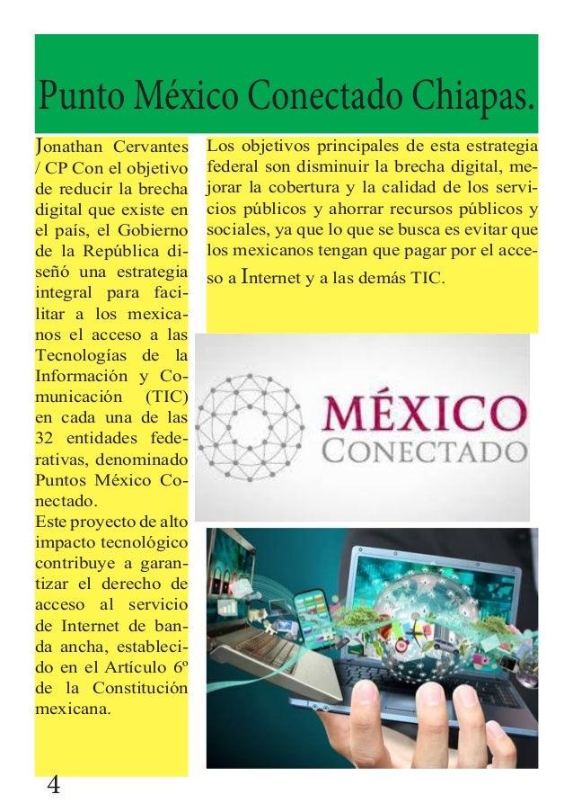 Punto México Conectado Chiapas. Jonathan Cervantes / CP Con el objetivo de reducir la brecha digital que existe en el país...
