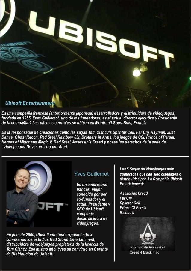 Yves Guillemot Es un empresario francés, mejor conocido por ser cofundador y el actual Presidente y CEO de Ubisoft, compa...