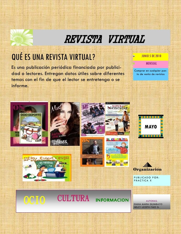 REVISTA VIRTUAL QUÉ ES UNA REVISTA VIRTUAL?                                   JUNIO 5 DE 2010                             ...
