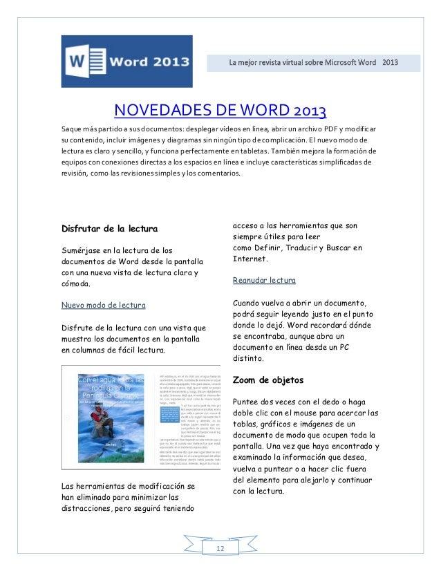 Revista virtual word 2013