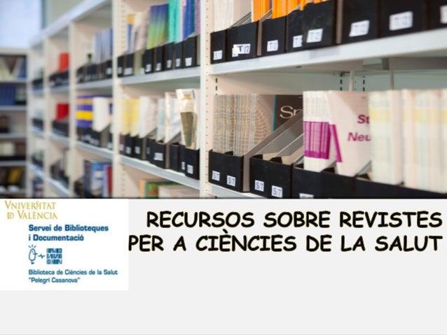 """Des del nostre catàleg """"trobes"""" Des de la nostra web: apartat recursos, accés als recursos, Revistes-e Des Des Des Des  d'..."""