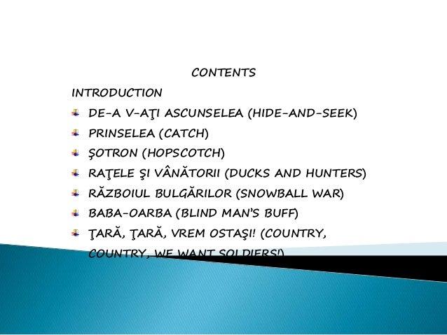 Revitalisation of traditional games  Slide 2