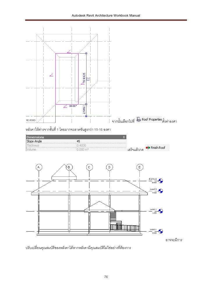 Autodesk Revit Architecture Workbook Manual                                                             จากนั้นเลือกไปที่ ...