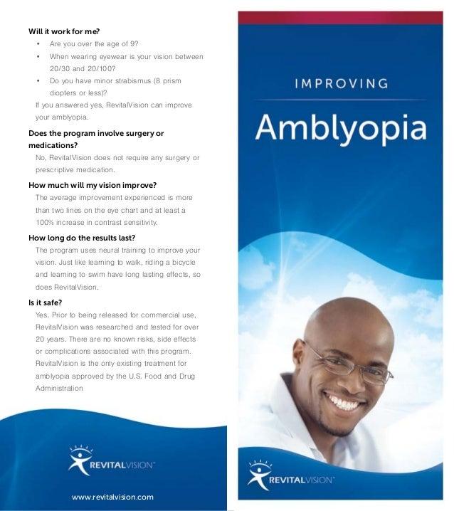 Revital vision amblyopia