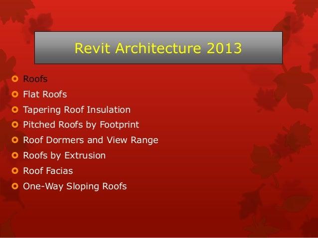 Revit architecture 2013 course