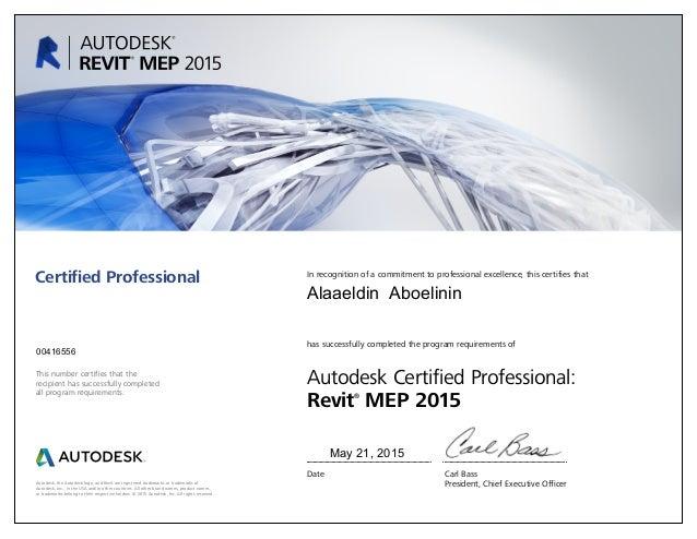 Revit MEP 2015 certified professional