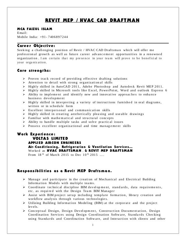 revit mep draftman resume 000