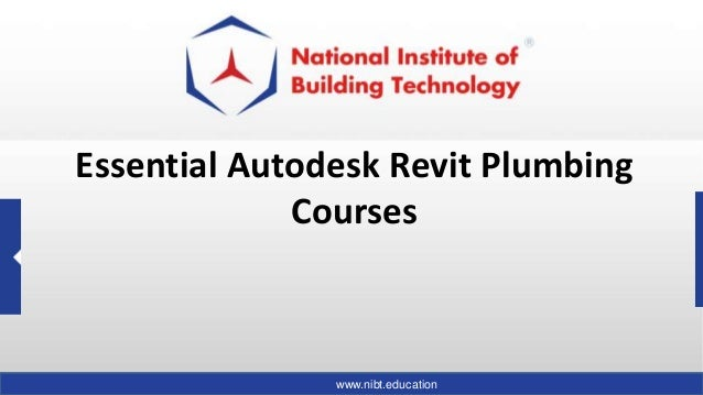 Essential Autodesk Revit Plumbing Courses