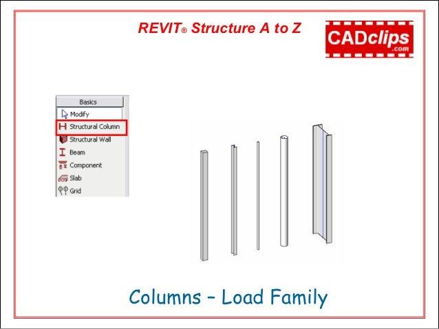Revit structure video cadclip training outline