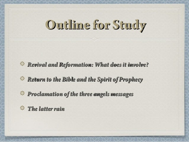 Revival And Reformation Sda Sermons Ppt