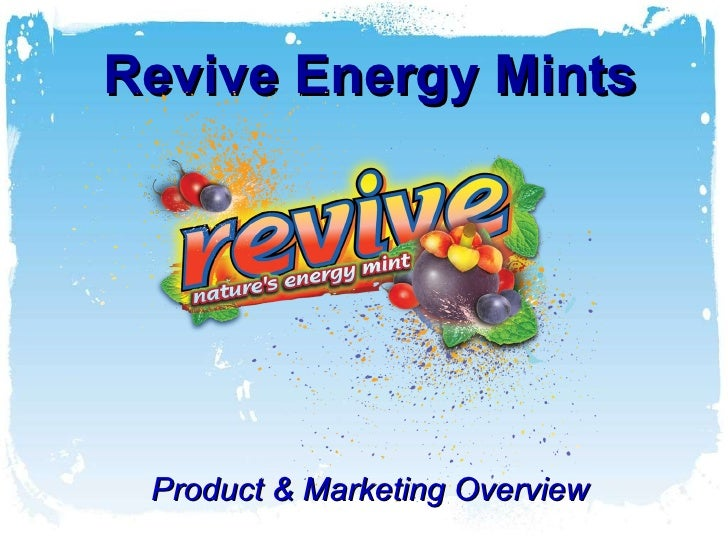 Revive Energy Mints Product & Marketing Overview