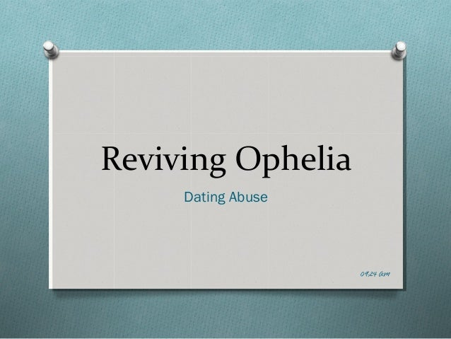 reviving ophelia essay questions