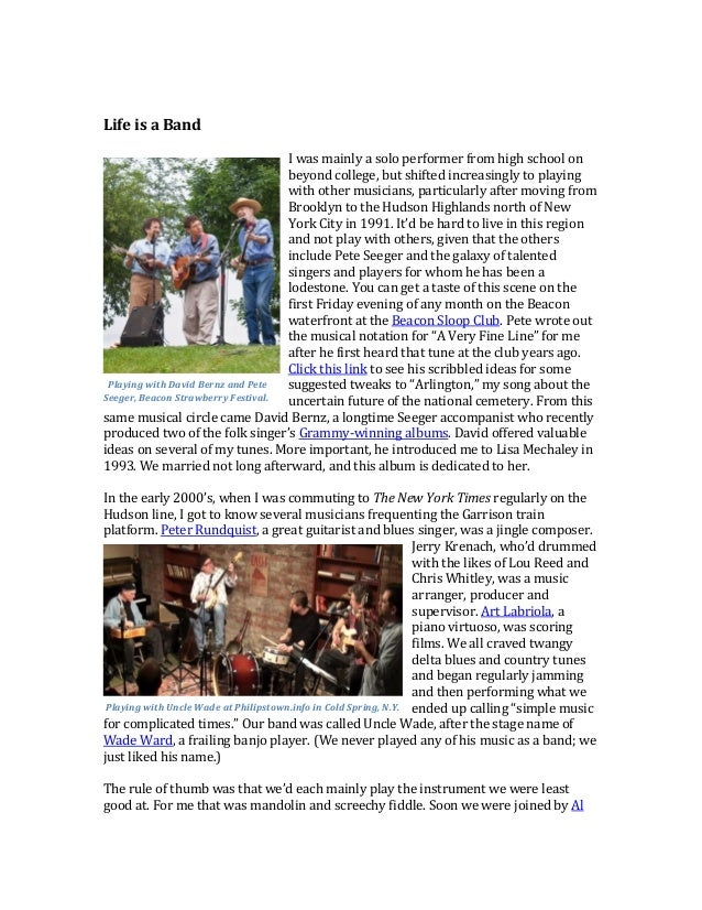 """Why Songs, Not Stories - Andy Revkin's Path to """"A Very Fine Line"""" Slide 3"""