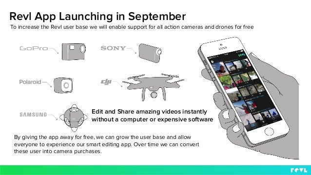Revl App Launching in September Edit and Share amazing videos instantly without a computer or expensive software To increa...