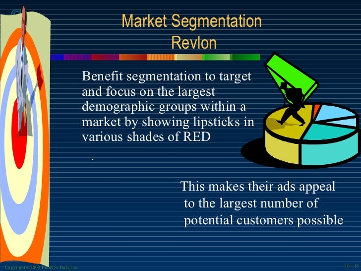 maybelline marketing segmentation Segmentation: maybelline is adopted by l'oreal in 1991, so it follows the stp process of l'oreal maybelline segmented according to the demographic.
