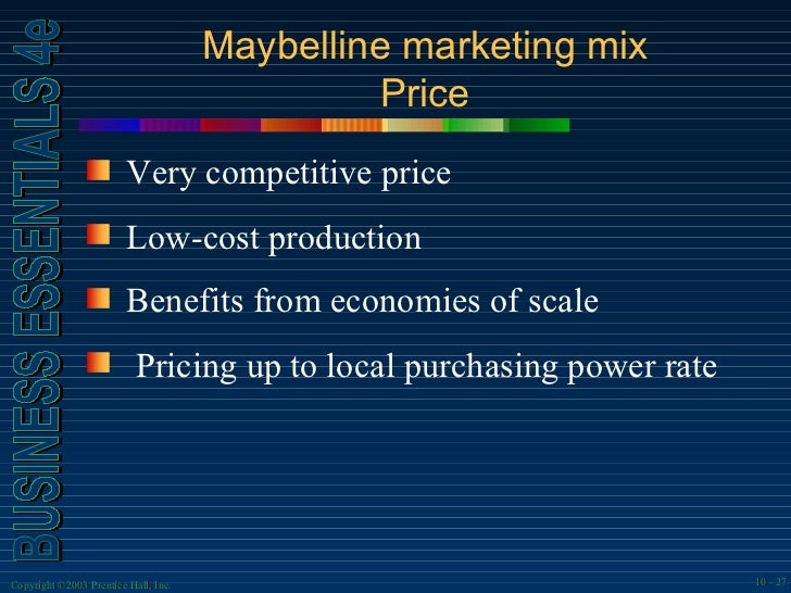 marketing mix for revlon Title: marketing and communication plan for revlon, author: ayse  in store  research focus group including 6 women with a mix of ages from.