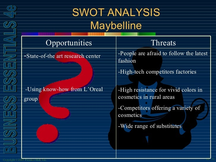 swot analysis of l oreal L'oreal sa fundamental company report including financial, swot, competitors and industry analysis: enhanced swot analysis (+ us$ 7500) pestel analysis (+ us$ 15000.