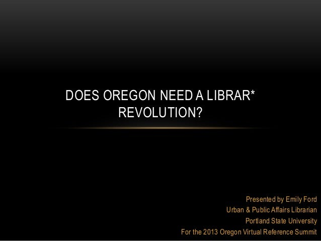 Presented by Emily FordUrban & Public Affairs LibrarianPortland State UniversityFor the 2013 Oregon Virtual Reference Summ...