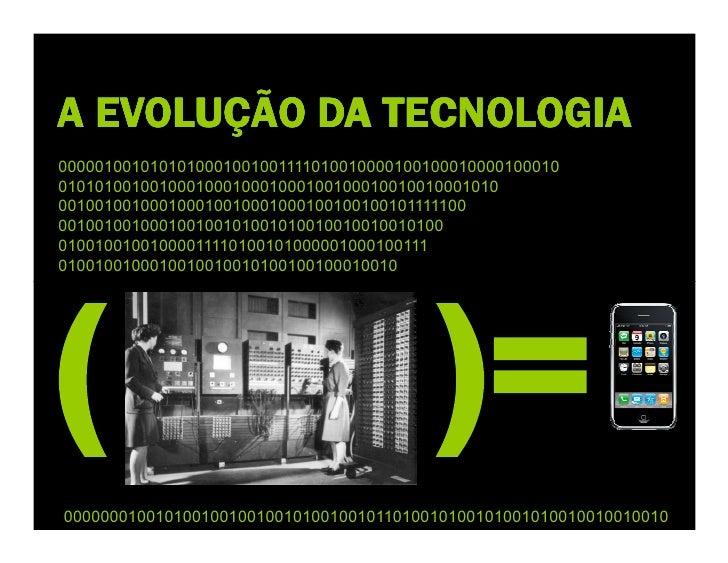 A EVOLUÇÃO DA TECNOLOGIA ( 000010010101010001001001111010010000100100010000100010 0 01010100100100010001000100010010001001...