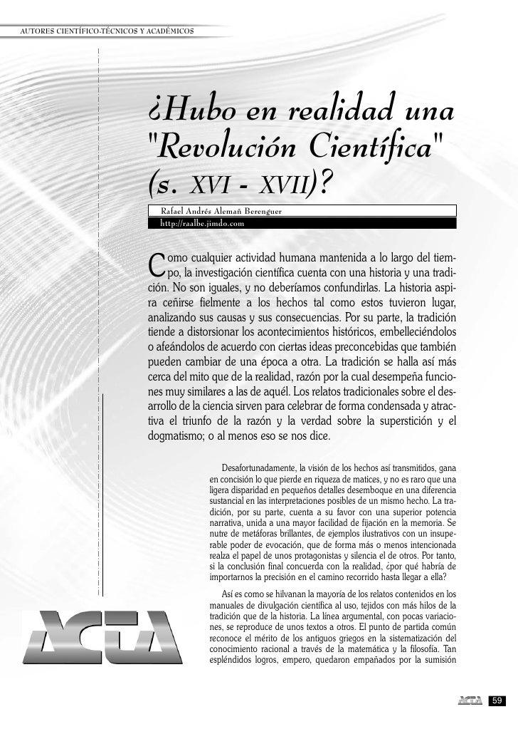 """AUTORES CIENTÍFICO-TÉCNICOS Y ACADÉMICOS                             ¿Hubo en realidad una                             """"Re..."""