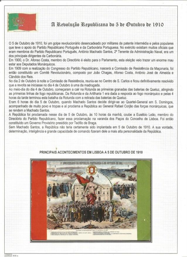 Q iàehulução iâepublirana ho 5 De @umbro tie 1910  O 5 de Outubro de 1910, foi um golpe revolucionário desencadeado por mi...