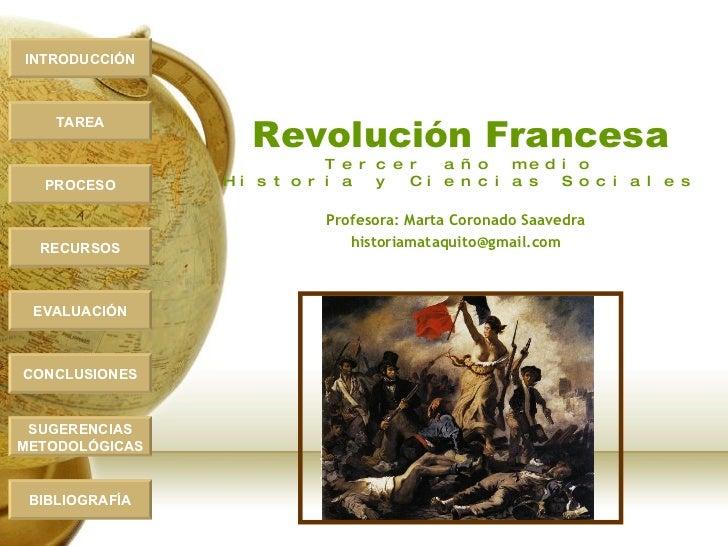INTRODUCCIÓN                        Revolución Francesa     TAREA                               T e r c e r   a ñ o   m e ...