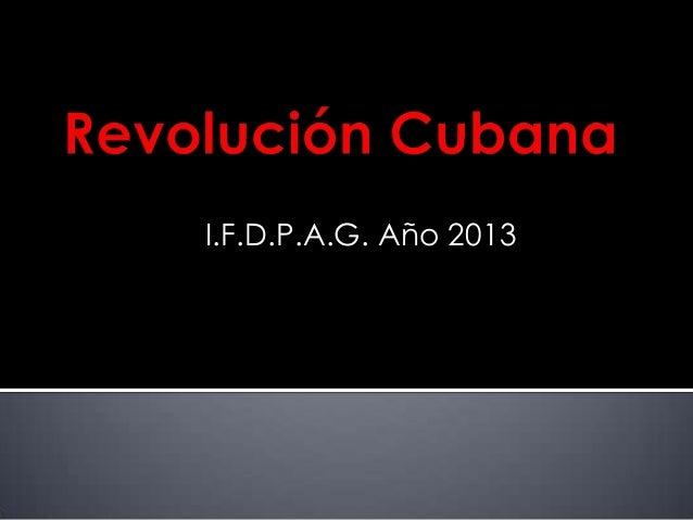 I.F.D.P.A.G. Año 2013