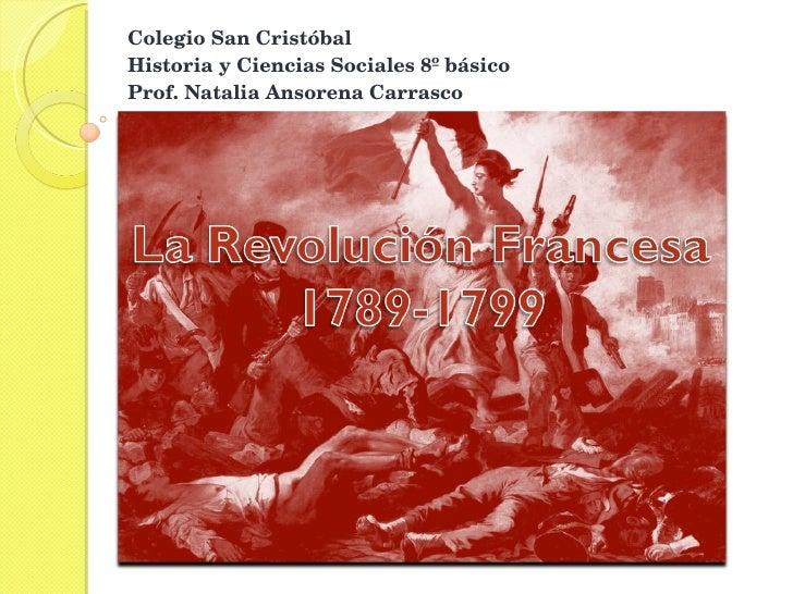 Colegio San Cristóbal Historia y Ciencias Sociales 8º básico Prof. Natalia Ansorena Carrasco