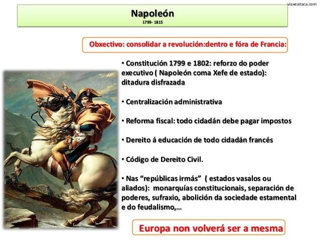 viaxeaitaca.com            Napoleón                1799- 1815Obxectivo: consolidar a revolución:dentro e fóra de Francia: ...