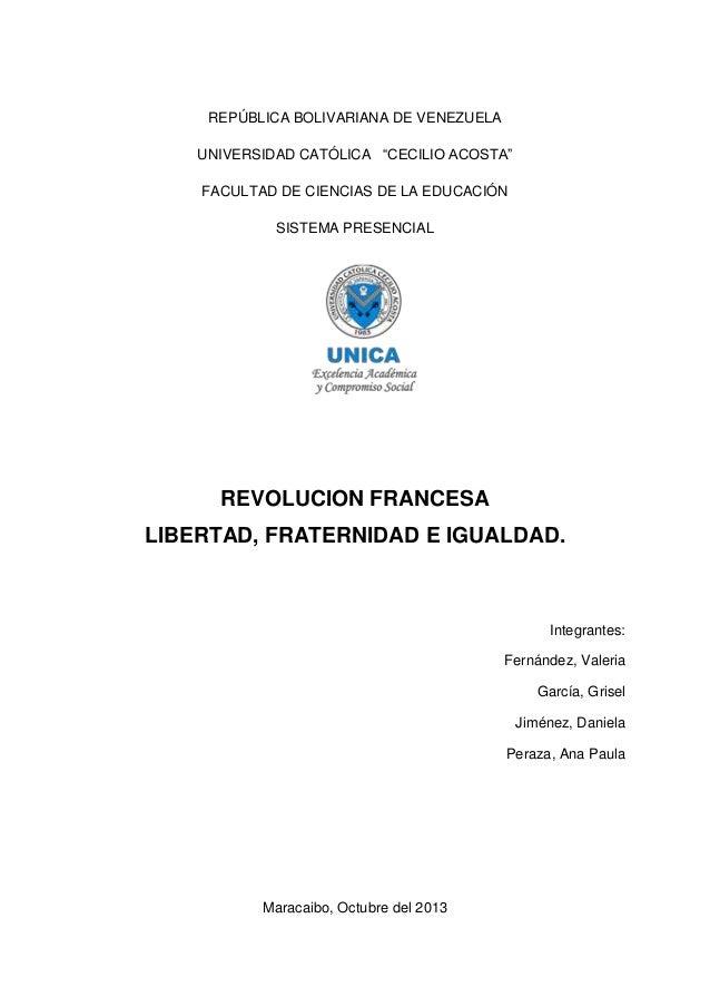 """REPÚBLICA BOLIVARIANA DE VENEZUELA UNIVERSIDAD CATÓLICA """"CECILIO ACOSTA"""" FACULTAD DE CIENCIAS DE LA EDUCACIÓN SISTEMA PRES..."""
