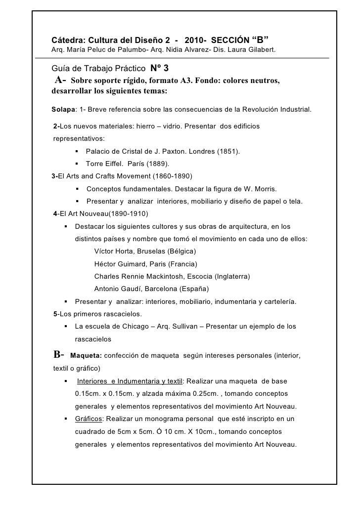 """Cátedra: Cultura del Diseño 2 - 2010- SECCIÓN """"B"""" Arq. María Peluc de Palumbo- Arq. Nidia Alvarez- Dis. Laura Gilabert.  G..."""
