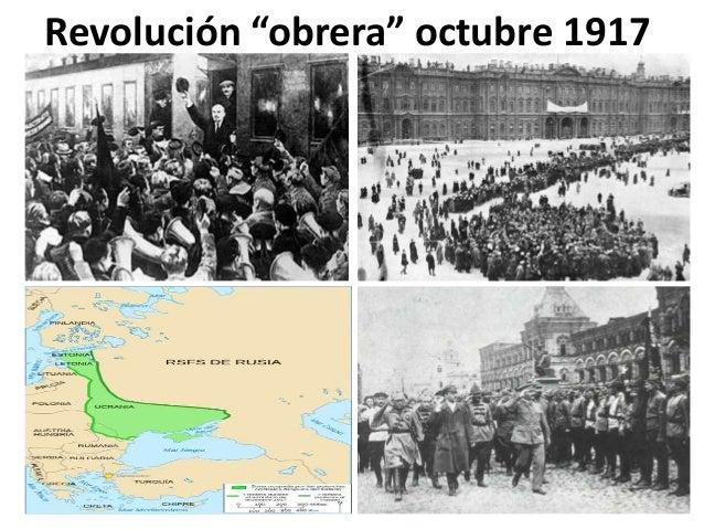 "Revolución ""obrera"" octubre 1917"