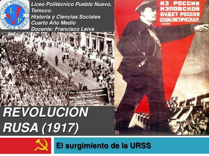 Liceo Politécnico Pueblo Nuevo,   Temuco.   Historia y Ciencias Sociales   Cuarto Año Medio   Docente: Francisco LeivaREVO...