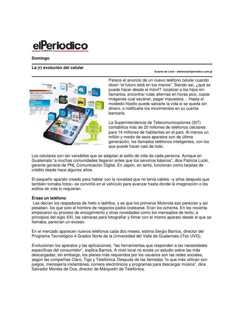 DomingoLa (r) evolución del celular                                                                    Susana de León • sd...