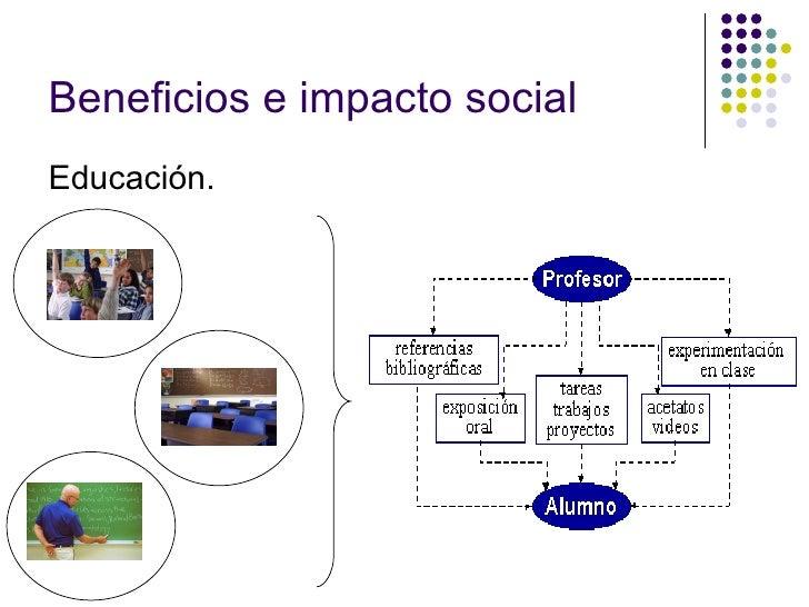 Beneficios e impacto social Educación.