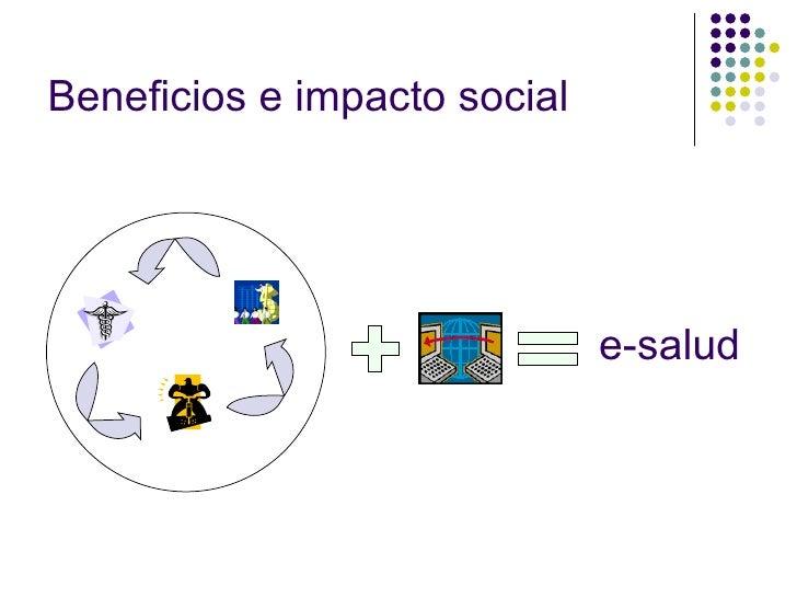 Beneficios e impacto social e-salud