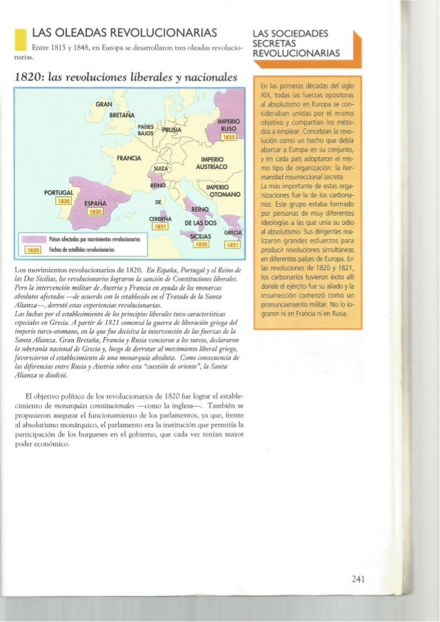 Revoluciones liberales europeas 1820,30 y 48
