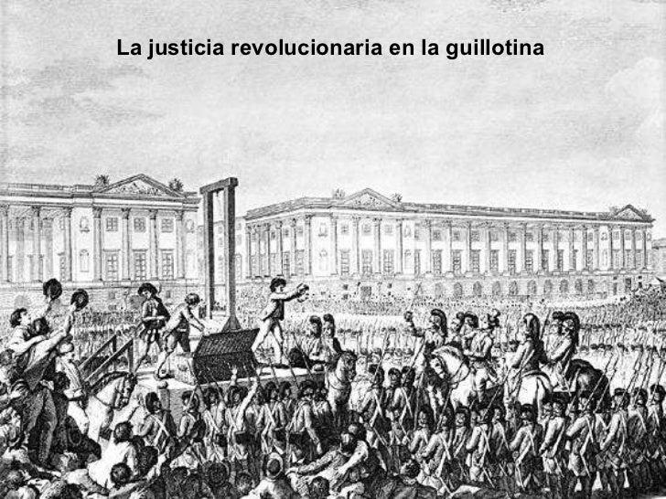 La justicia revolucionaria en la guillotina
