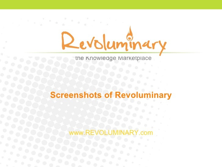 Screenshots of Revoluminary www.REVOLUMINARY.com