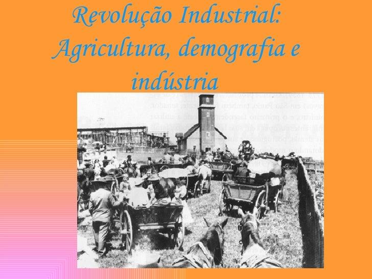 Revolução Industrial: Agricultura, demografia e indústria