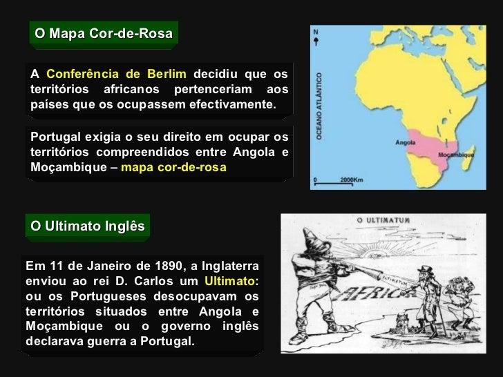 O Mapa Cor-de-Rosa Portugal exigia o seu direito em ocupar os territórios compreendidos entre Angola e Moçambique –  mapa ...
