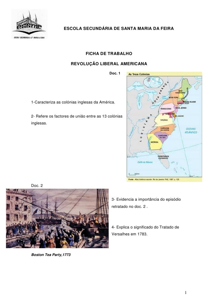 ESCOLA SECUNDÁRIA DE SANTA MARIA DA FEIRA                                   FICHA DE TRABALHO                          REV...