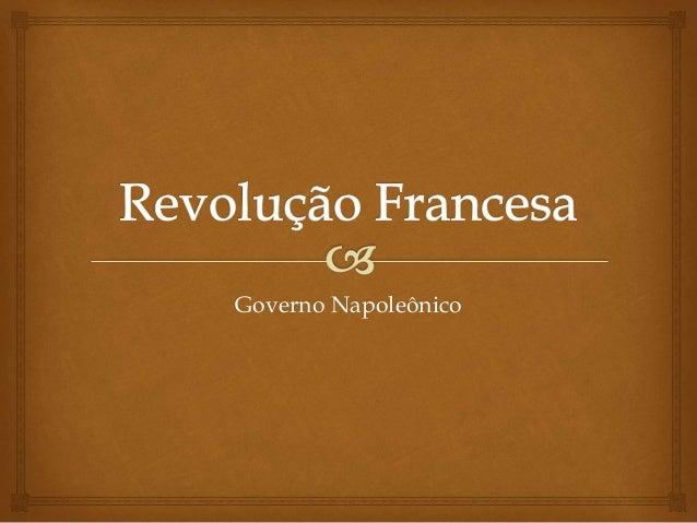 Governo Napoleônico