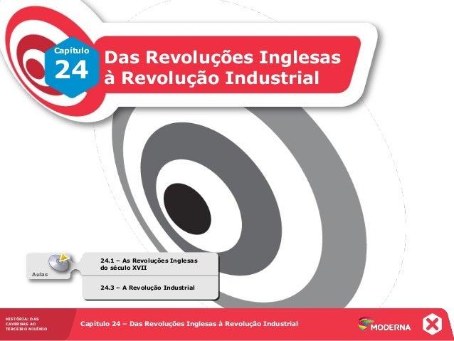 HISTÓRIA: DASCAVERNAS AOTERCEIRO MILÊNIOCapítulo 24 – Das Revoluções Inglesas à Revolução Industrial24.1 – As Revoluções I...
