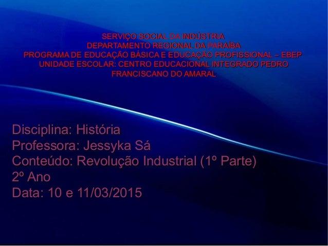 SERVIÇO SOCIAL DA INDÚSTRIASERVIÇO SOCIAL DA INDÚSTRIA DEPARTAMENTO REGIONAL DA PARAÍBADEPARTAMENTO REGIONAL DA PARAÍBA PR...