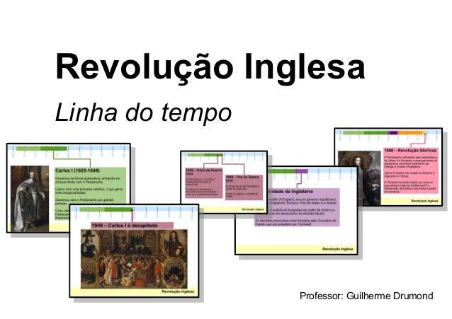 Revolução Inglesa Linha do tempo Professor: Guilherme Drumond