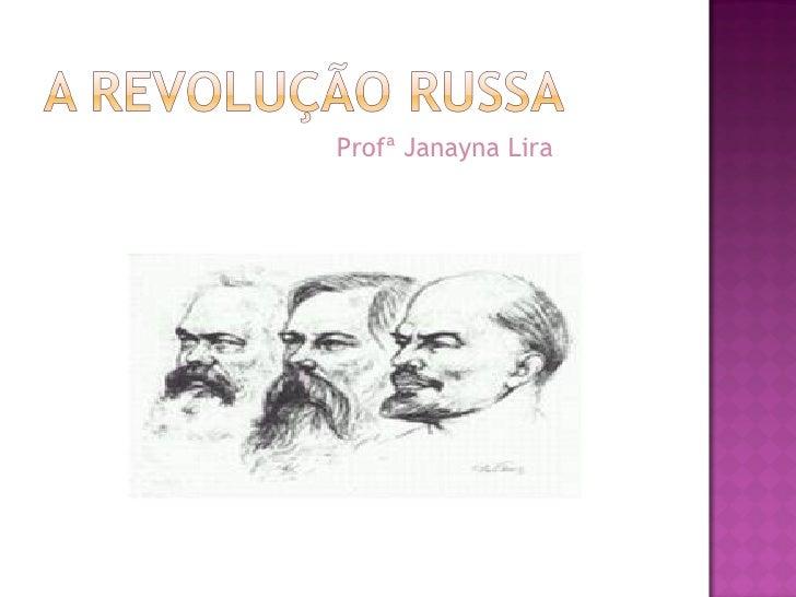 Profª Janayna Lira