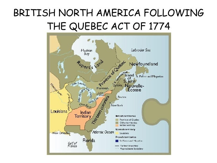 The Quebec Act 1774