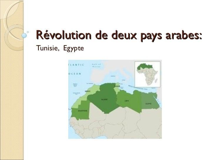 Révolution de deux pays arabes: Tunisie,  Egypte