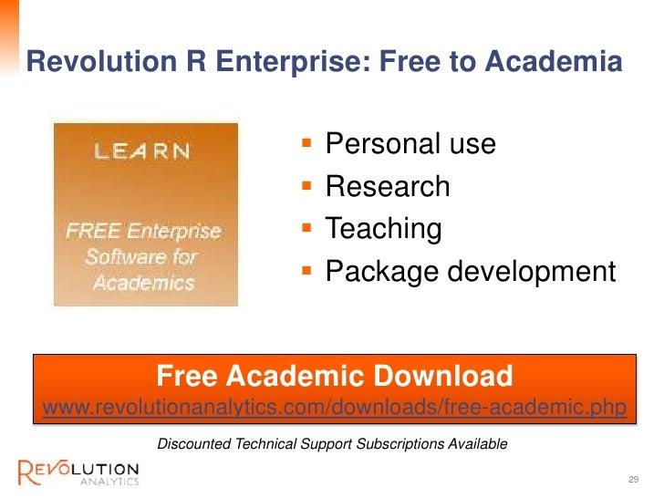 Revolution ConfidentialRevolution R Enterprise: Free to Academia                                   Personal use          ...